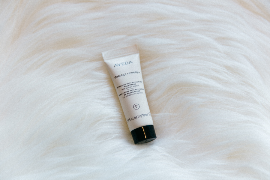 Aveda damage remedy conditioner for hair.