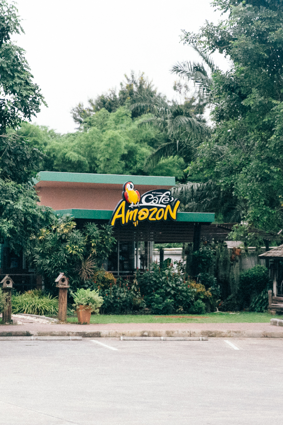 Cafe Amazon at a gas station in Thailand.
