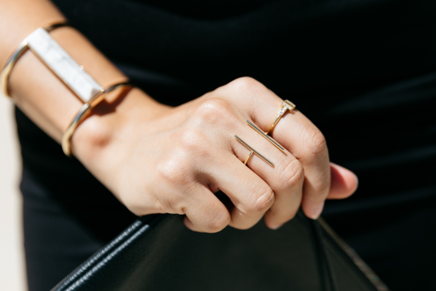 Forever New gold plated fine jewellery ring.
