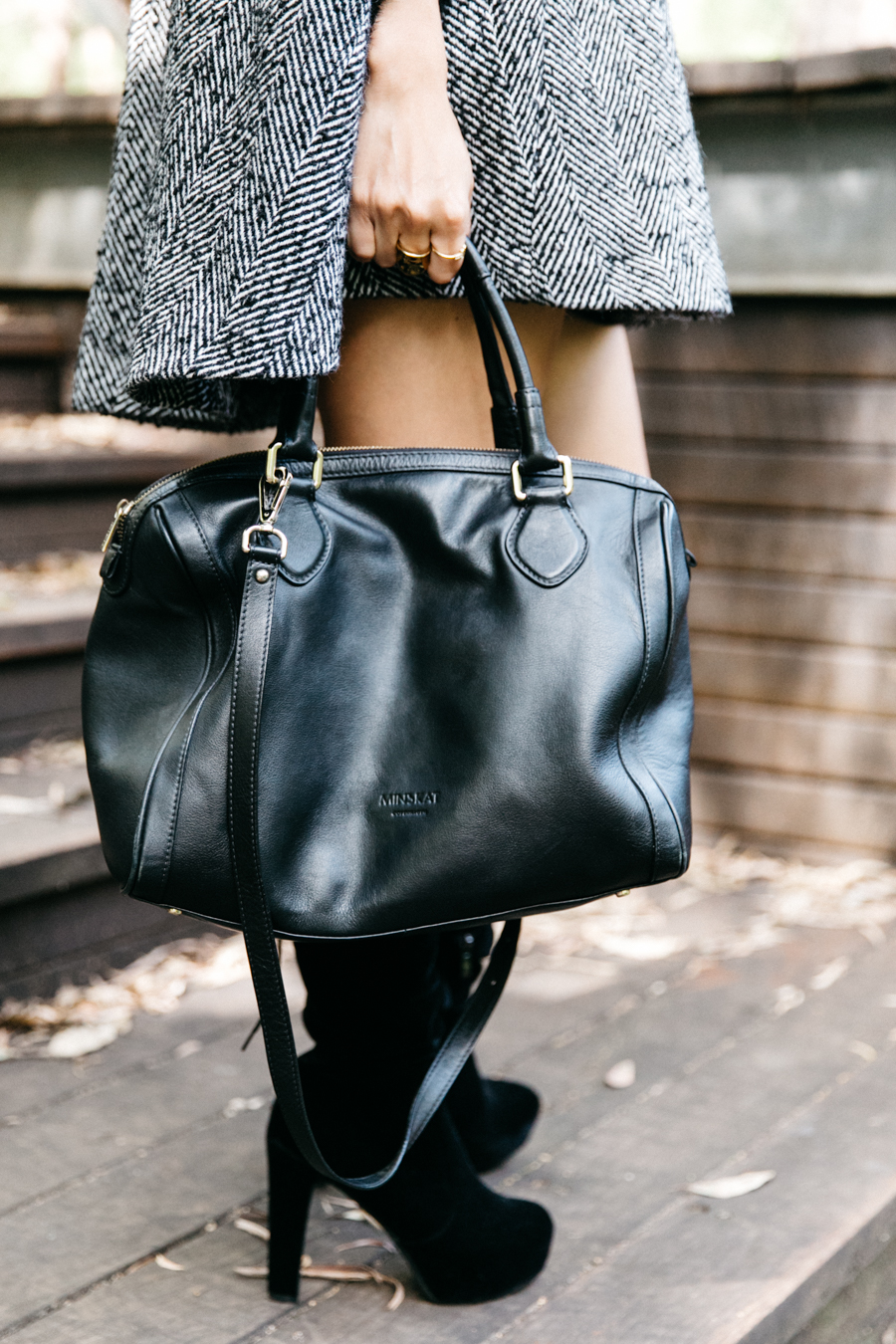 Minskat Copenhagen Mira bag. Perfect black leather bag,