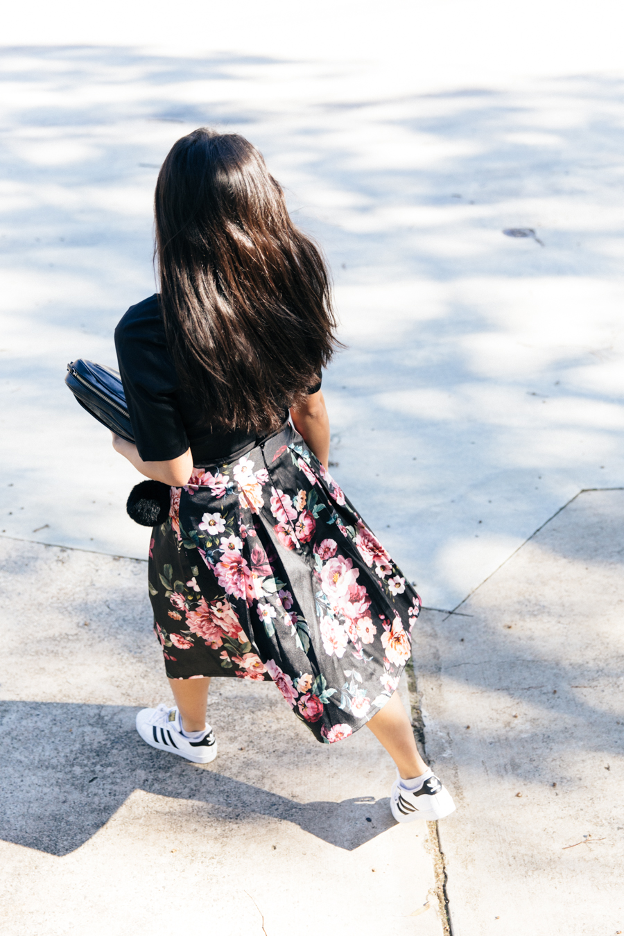 Review Australia floral midi skirt.