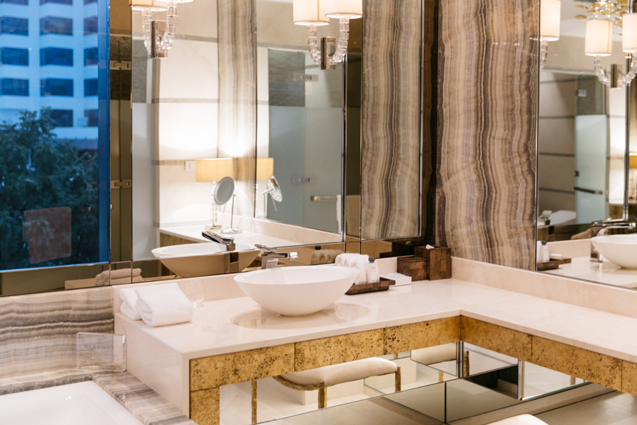 Luxury bathroom - Crown Resort mansion, Perth.