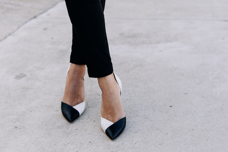 The Mode Collective pointed heels. Minimalist d'Orsay heels.