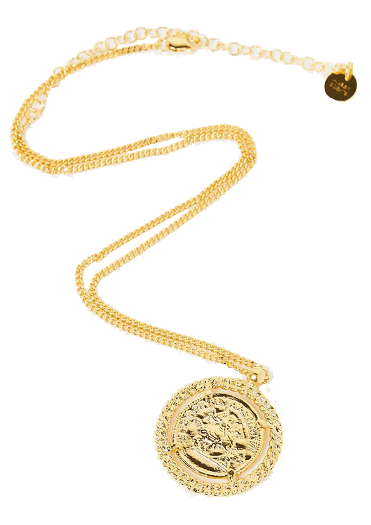 Coin necklace.