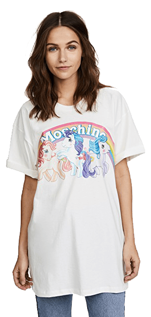 My Little Pony graphic tee x Moschino.