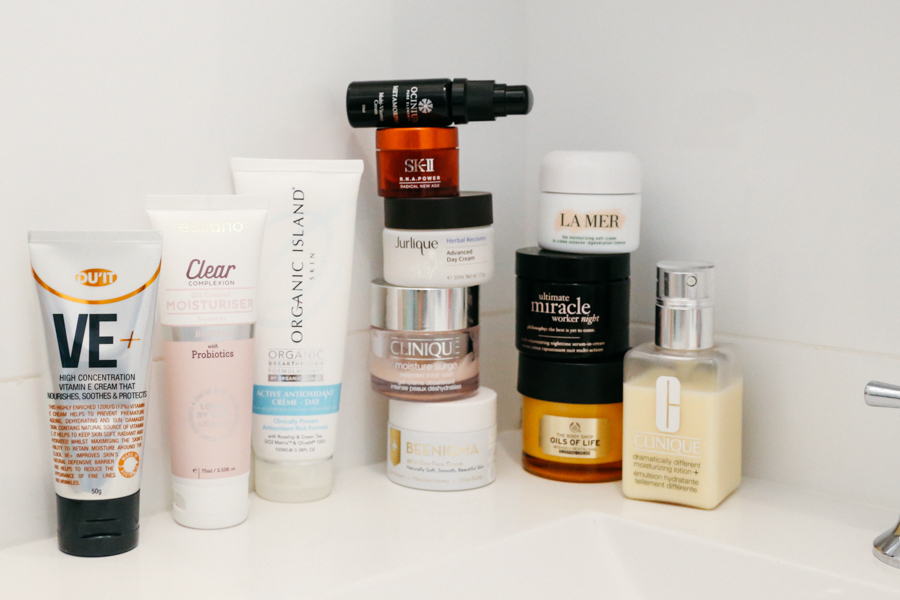 Moisturisers and facial lotions and creams.