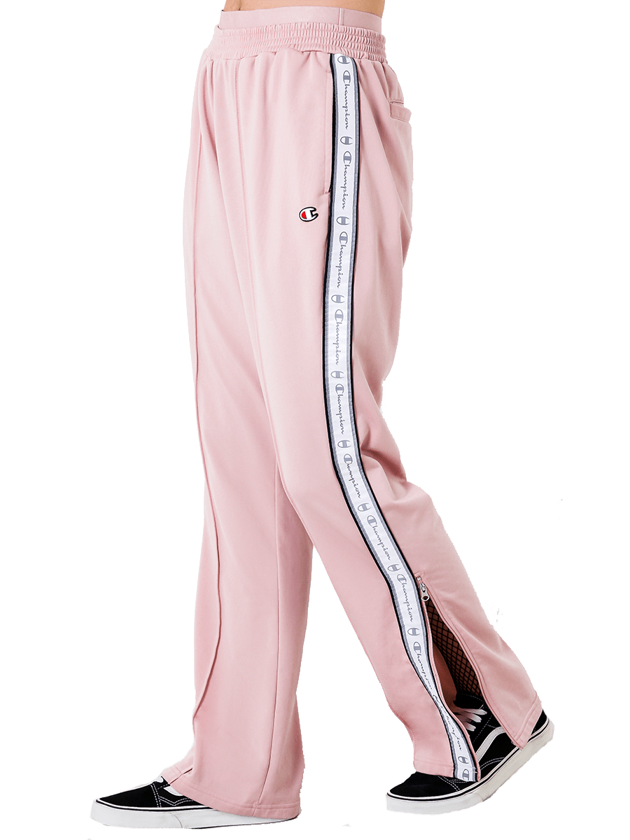 Pink track pants.