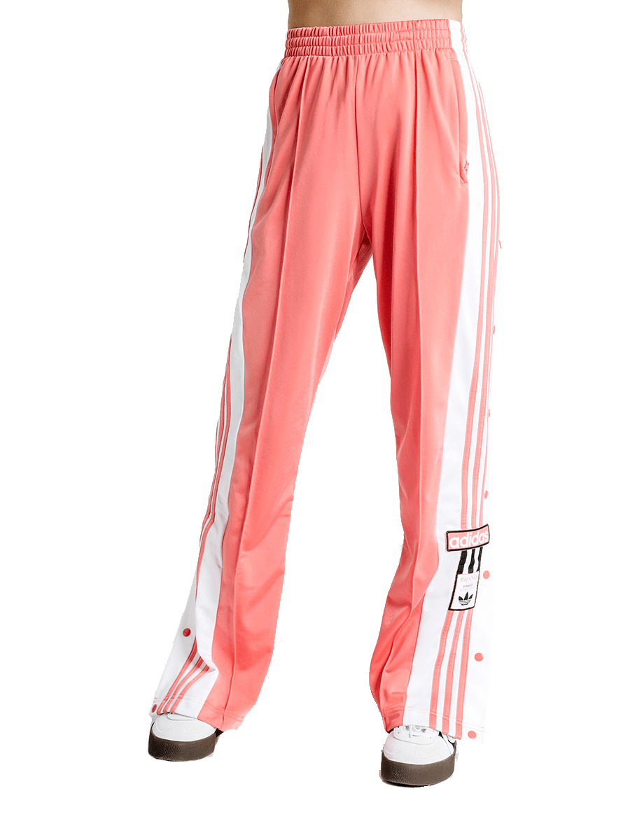 Peach coral track pants.
