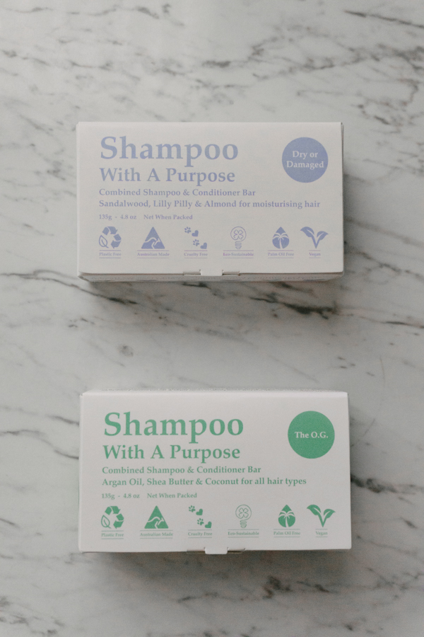 Shampoo with a Purpose. Australian made shampoo and conditioner bars.