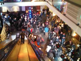 Overhead at the conference