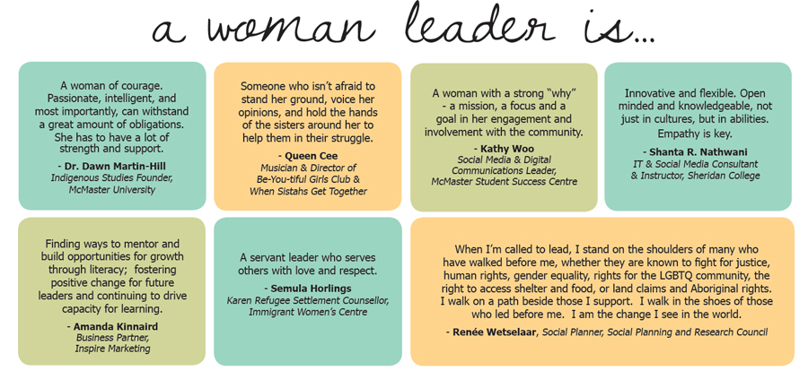 A Woman Leader Is...