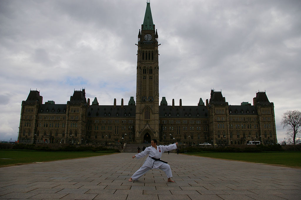 Shanta on Parliament Hill in 2014