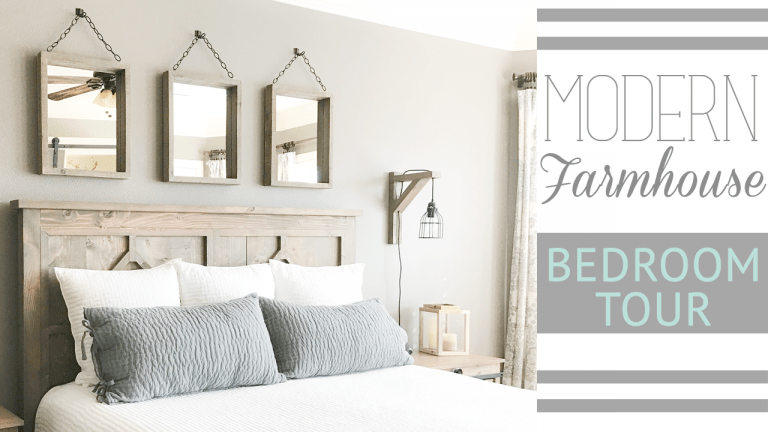 Ashley's Modern Farmhouse Bedroom Tour
