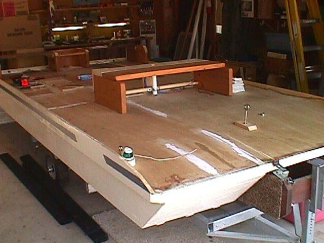 Wizcat 130 pontoon deck boat for Foam block construction house plans