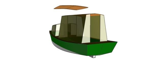 Padre Island Skiff 24'top rear