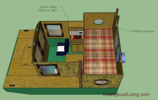 LaMar Alexander's 8×12 Stealth-boat Tiny House Design.clipular