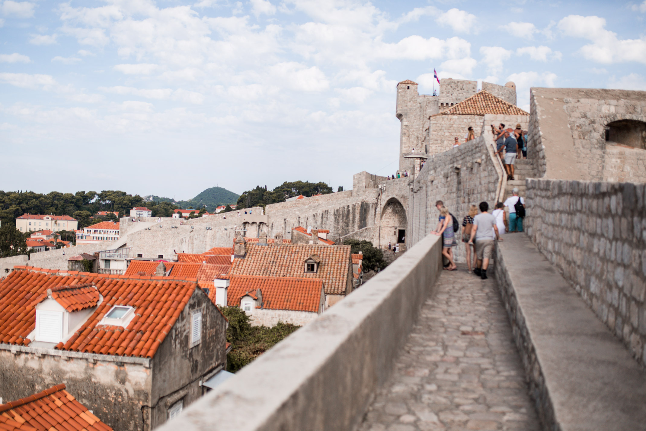 walking the walls of dubrovnik
