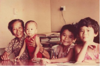 my mother and three children