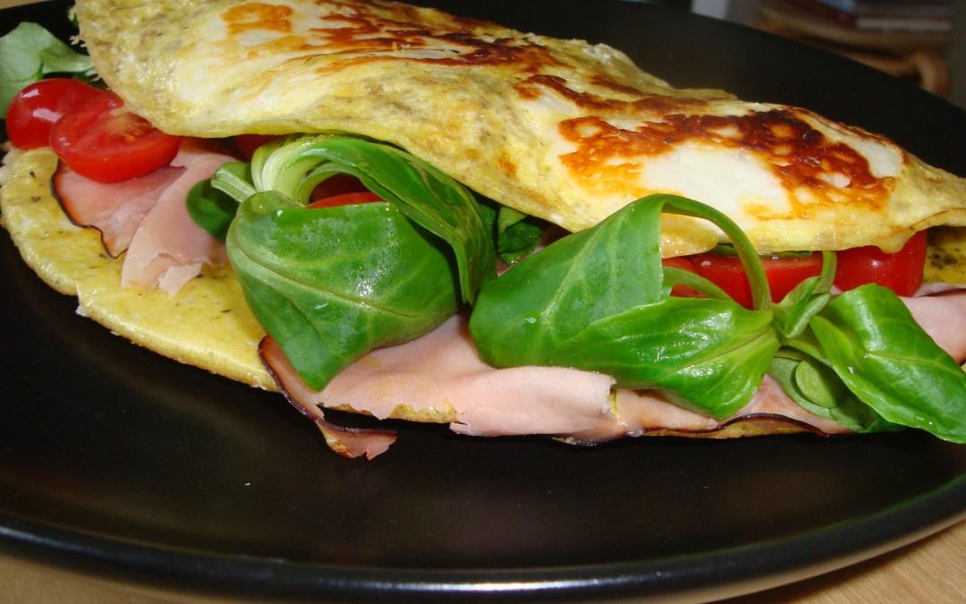 Omelett – med grönsaker.