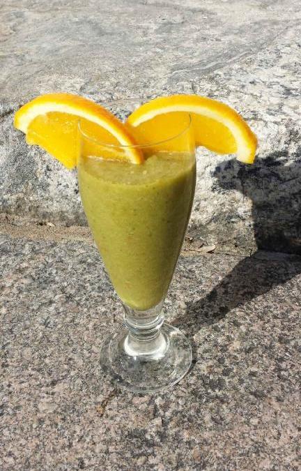 Smoothie – grönsaker och frukt.