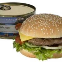 trekking mahlzeiten: cheeseburger in a can.