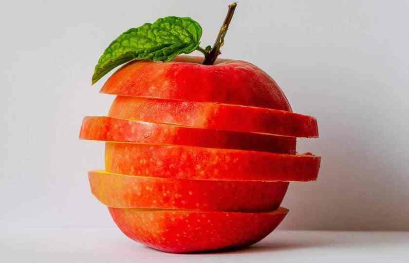 Rooi appel horisontaal gesny