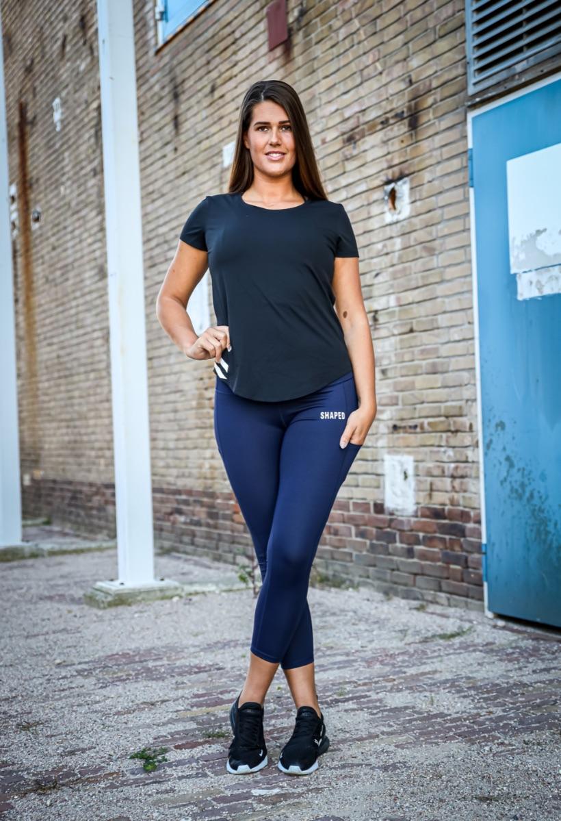 Shapednl legging met zakken dames zwart