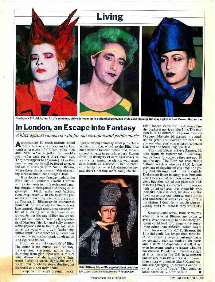 Time magazine, 1980, Philip Sallon