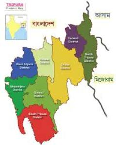 Pol. Map of Tripura, CBSE Art Integration Project