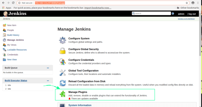 manage jenkins plugin