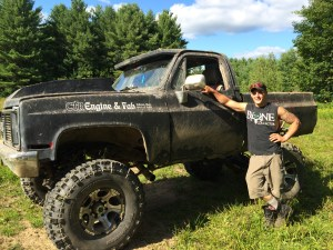 Dylan and his mud truck.