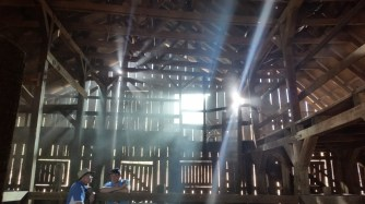 Shooting inside one of the barns at Disney Ranch.