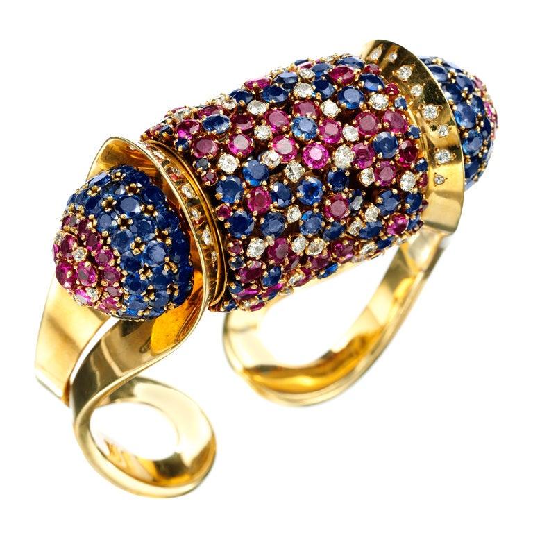 c53a4af030d0 JOHN RUBEL A Retro 'Rouleau' Bangle Bracelet