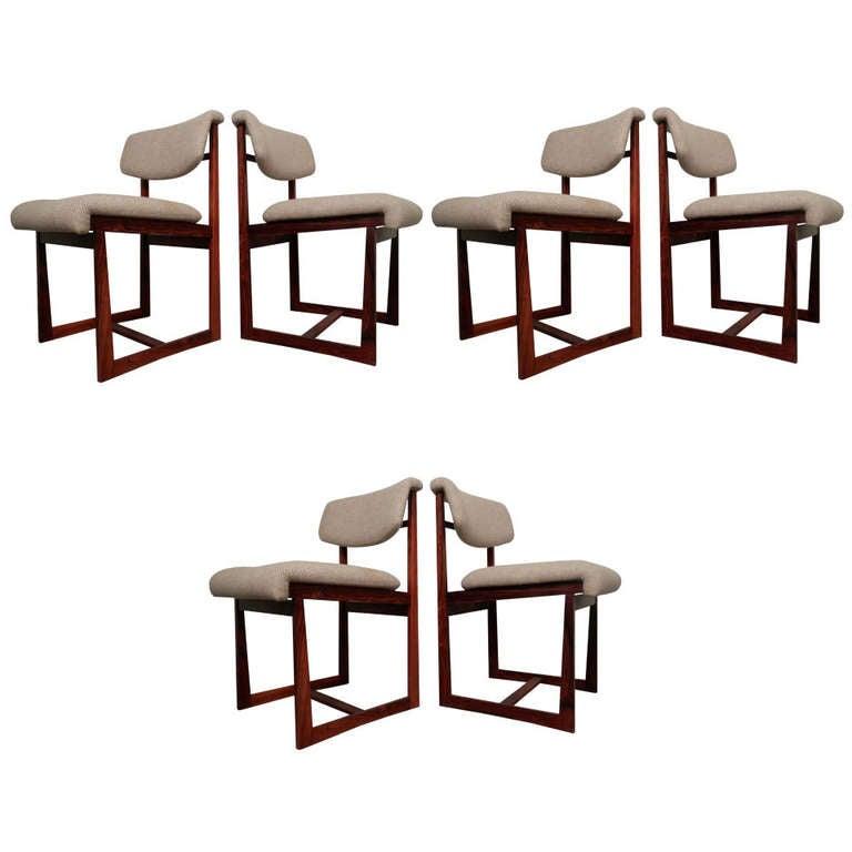 Six Brazilian Rosewood Chairs At 1stdibs