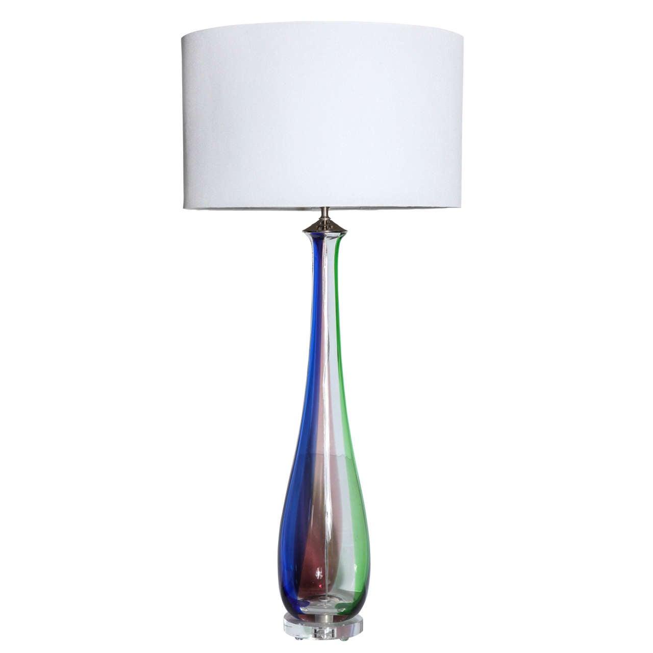 Tall Slim Lamp Table