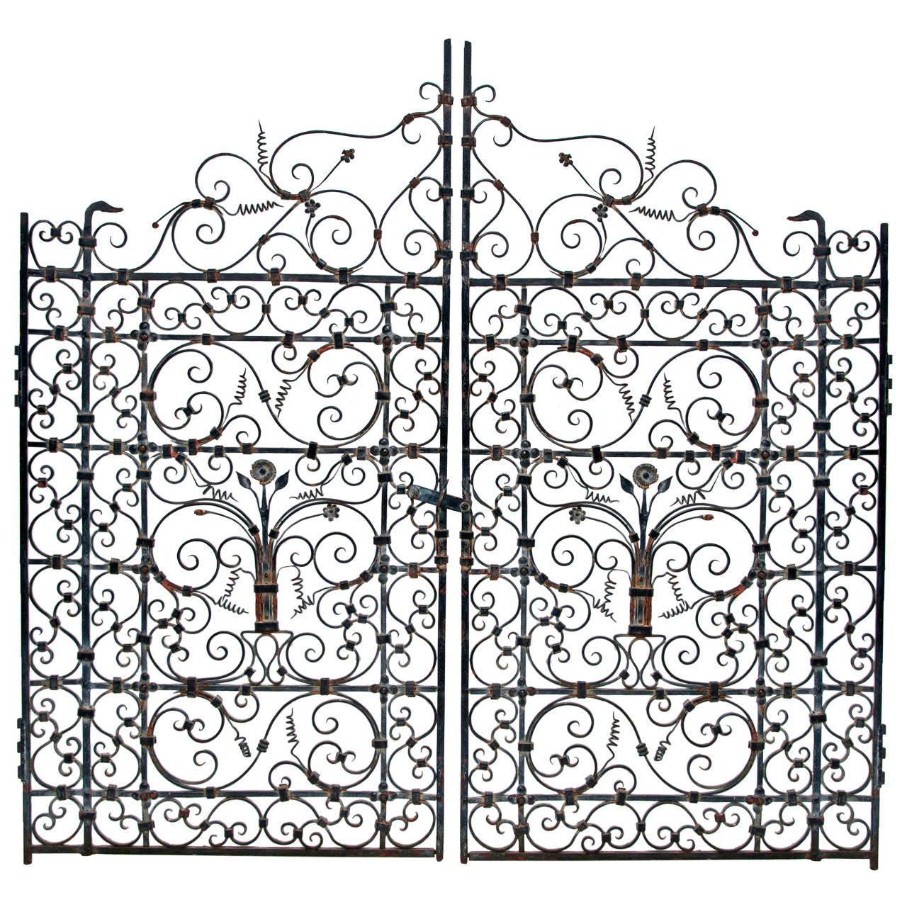 French Or Spanish Wrought Iron Garden Gate Circa At