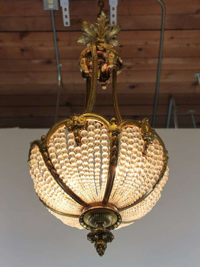 Basket Crystal Chandelier Rams Head