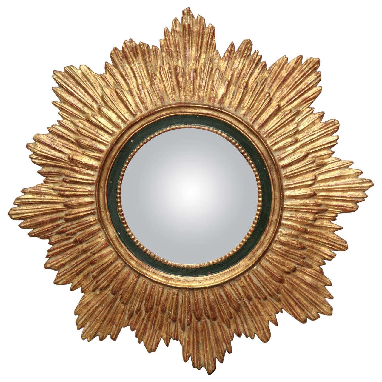 Soleil Convex Mirror At 1stdibs