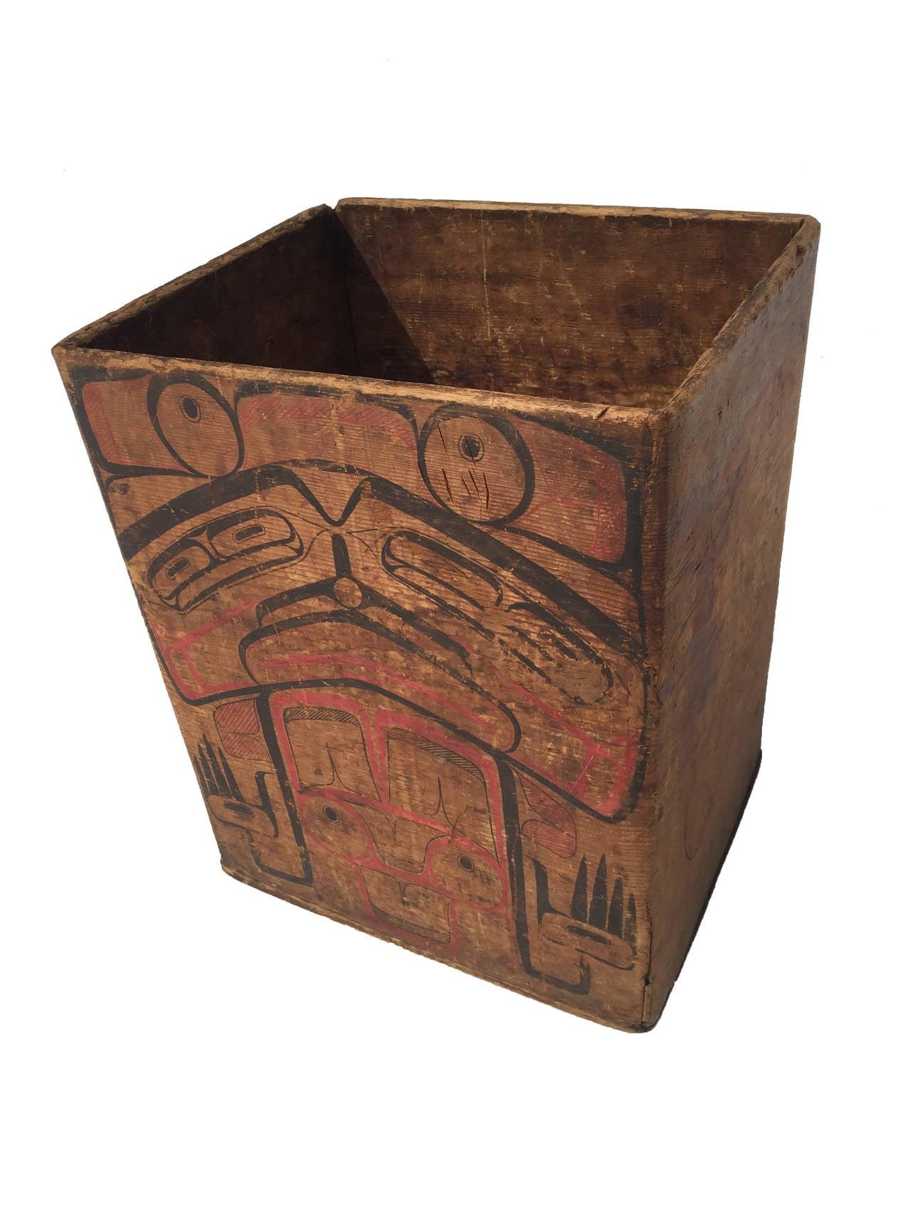 Mid 19th Century Northwest Coast Bentwood Box Image 2