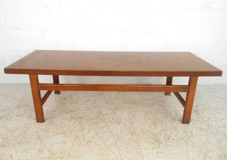 Mid-Century Modern American Walnut Coffee Table By Lane