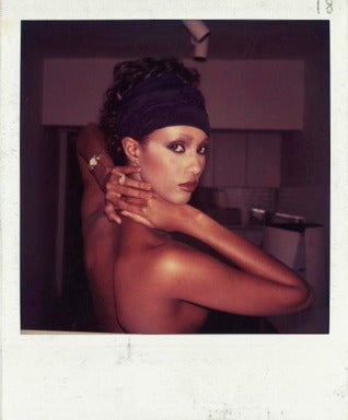 Iman Polaroid Photograph
