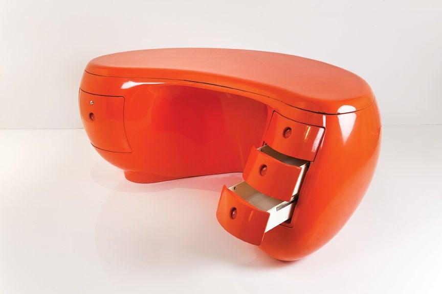 Fiberglass Boomerang Desk By M Calka Edition Leleu