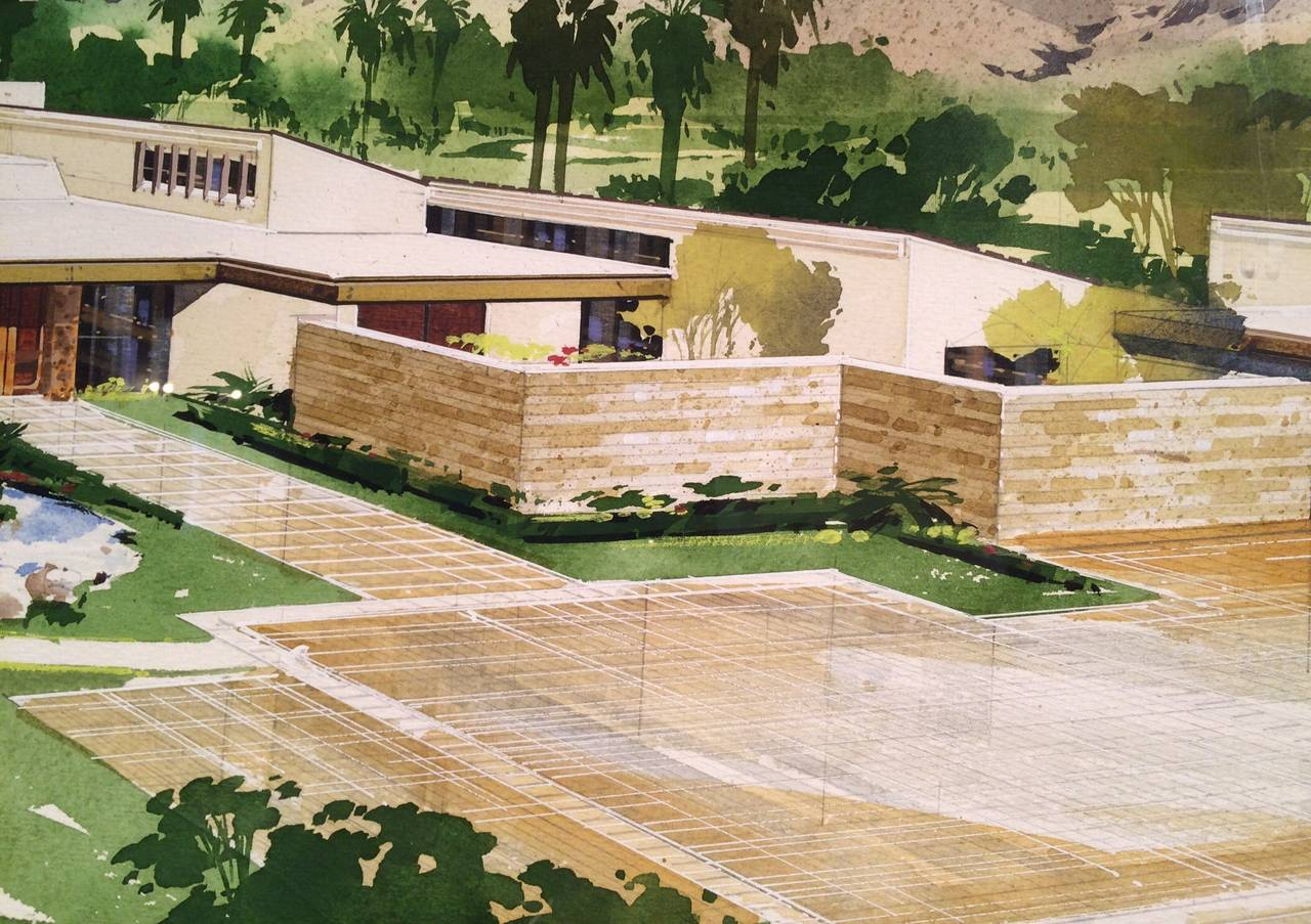 Watercolor Renderings Of William Cody House In El Dorado
