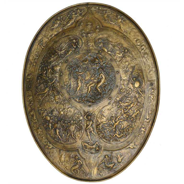 19th Century Repousse Copper Plaque At 1stdibs
