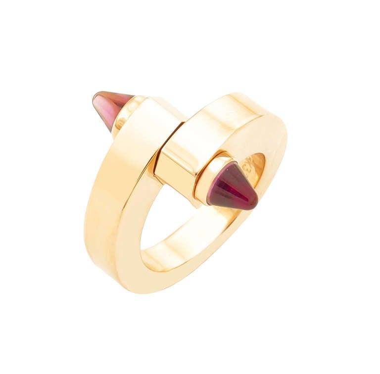 "Cartier Gold Tourmaline ""Menotte"" Ring"