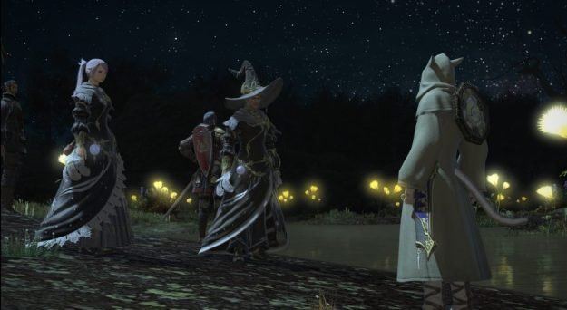 Mace, Leveva and Rakuno just about to watch a constellation