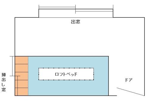 ロフトベッド_間取り図1