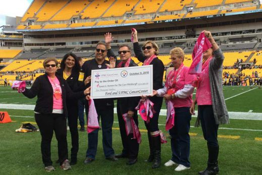 Image result for upmc steeler breast cancer