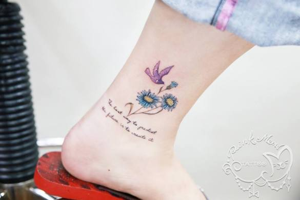 Pink Meow Tattoo17