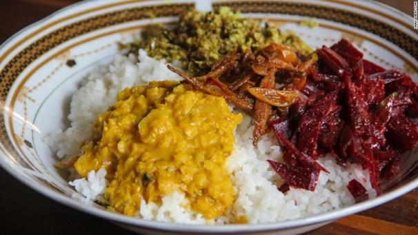 斯里蘭卡道地的黃咖哩是餐桌上經常出現的美食。